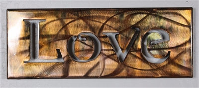 Metal Wall Art Canvas Copper Bronze By Heavens Gate