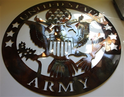 Military Logo 7 Metal Wall Art
